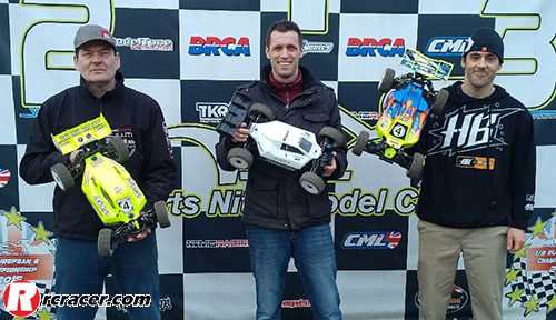 HNMC Winter R9 e buggy Lewis, Cousins and Tatlow Win HNMC Winter R9